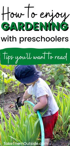 Gardening with toddlers and preschoolers can be both fun and frustrating. Get tips for making sure kids are having fun and helping in the garden. Backyard garden activities for kids. #gardeningwithkids Nature Activities, Outdoor Activities For Kids, Spring Activities, Science For Kids, Toddler Activities, Gardening With Kids, Organic Gardening, Toddler Fun, Toddler Learning