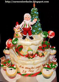 CARMEN'S ART CAKES -Bucuresti: Tort de Craciun