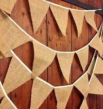 Hessian bunting, wedding, rustic, barn dance, party, ceilidh, sold per meter