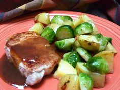 This sauce is so simple that it has become a tried and true stand-by for me — and it's always a hit. Maple syrup, brown sugar and mustard blend with the pan juices to make a succulent sauce for the sauteed pork chops. The sauce is great with pork, ham, turkey or chicken. Warm it on its own and serve with any of these cooked meats or use it as a dipping sauce. It can be served hot or at room temperature.