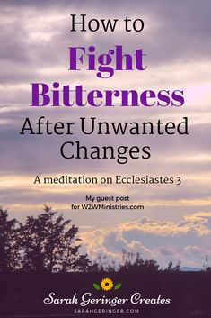 How to Fight Bitterness After Unwanted Changes Bitterness drives us away from God and places us in the enemy's camp. That's why we need God's help to fight its growth in our hearts. Christian Living, Christian Faith, Christian Women, Tattoo Liebe, Change Is Hard, Christian Encouragement, Encouragement Quotes, Spiritual Growth, Spiritual Warfare