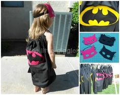 The Little Giggler: Batman Party (with cape tutorial)