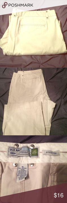 Old navy khaki capris Old navy khaki capris size 16 low waist stretch. Old Navy Pants Capris
