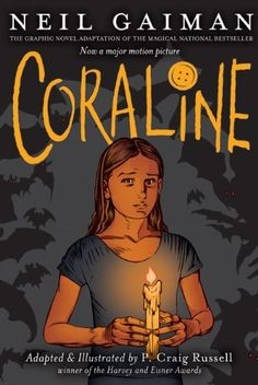 Coraline: The Graphic Novel by Neil Gaiman http://www.amazon.com/dp/0060825456/ref=cm_sw_r_pi_dp_8720vb1JX56ZW