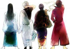 Gintama . Joui . Katsura Kotarou . Sakata Gintoki . Takasugi Shinsuke . Sakamoto Tatsuma .