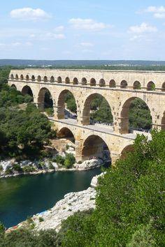 Pont du Gard, France - Apprendre les prémices des canalisations - Les Romains