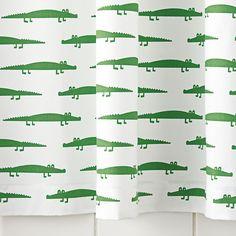 Alligator Shower Curtain   Serena  Lily