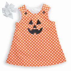 Orange Dot A-line Dress