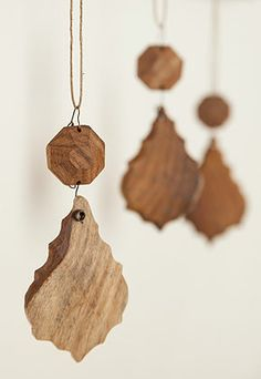 re - wooden chandelier drops #ornaments #Christmas #decorations