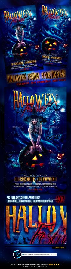 Halloween Festival Flyer Template PSD #design Download: http://graphicriver.net/item/halloween-festival-flyer-template/13123896?ref=ksioks