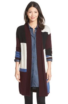Caslon® Patterned Long Cardigan (Regular & Petite) available at #Nordstrom