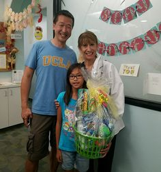 Congratulations to Megan for winning one of our awesome gift baskets in our Flat Doctor Summer Photo Contest!!  Not to mention that we love your dad's #UCLA shirt!!!  www.irvineorthodontics.com