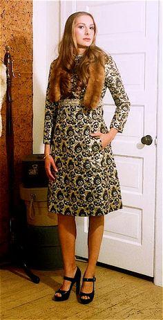 Op Art Metallic Brocade Dress by HouseofCircumstance on Etsy