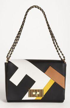 Fendi 'Claudia 3D' Leather Shoulder Bag
