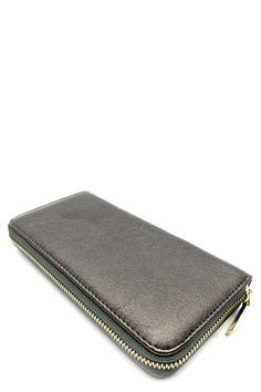 Vegan Single Zip Around Wallet/Wristlet (2 Colors Available)