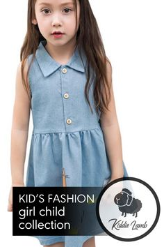 Silhouette: A-Line Model Number: Princess Appliques Sleeveless Dresses Fit: Fits true to size, take your normal size Blue Denim Dress, Sleeveless Dresses, Trendy Kids, Cute Tshirts, Appliques, Best Sellers, Sleeve Styles, Lamb, Kids Fashion