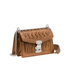 Matelassé leather shoulder bag MiuMiu CAMEO BEIGE MORDORE  Leather Shoulder  Bag 84c55d7ebff20