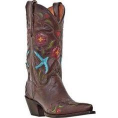Dan Post Ladies Blue Bird Western Boots
