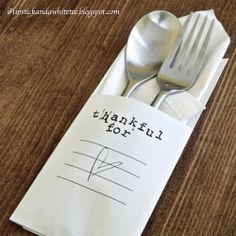 Minimalistic black & white idea for Thanksgiving table decoration. Simple, quick & cheap!