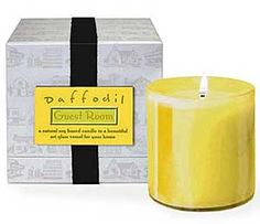 LAFCO Guest Room (Daffodil) Candle is the combination of fresh cut daffodils and daisies, layered upon soft orange blossom and honeysuckle, creating a cheerful and uplifting fragrance that will make your guest room a true home away from home for visiting True Homes, Home Candles, Orange Blossom, Daffodils, Guest Room, Candle Holders, Fragrance, Happiness, Bright