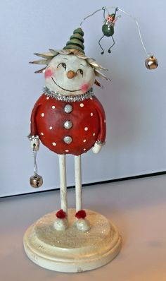 Folk Art by Dawn Tubbs Paper Clay Art, Paper Mache Clay, Paper Mache Sculpture, Paper Mache Projects, Paper Mache Crafts, Christmas Crafts To Make, Christmas Paper, Clay Dolls, Art Dolls