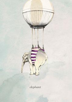 elephant hot air balloon... great!