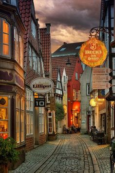 medieval quarter 'Schnoor' in the city of Bremen, Germany. by Alexander Riek Places Around The World, The Places Youll Go, Places To See, Around The Worlds, City Aesthetic, Travel Aesthetic, Voyage Europe, Beautiful Places To Visit, Germany Travel