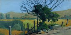 'Laguna Avenue, Coyote Valley', 24''x12'' Oil on Canvas by Robert Lewis
