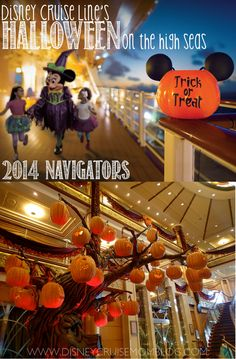Read about Disney Cruise Line's Halloween on the High Seas themed sailings and see the daily Navigators from my 2014 Halloween Disney Cruise.