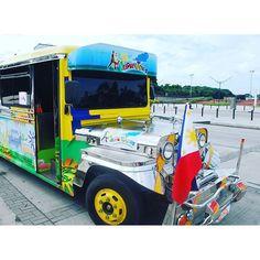 Our #colourful #karaoke #Jeepney! #Manila #intramuros #philippines #itsmorefuninthephilippines #travel #transport #travelpic  #travelphotography :heart::smile::blue_car: