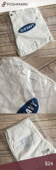 "Old Navy White Shorts Old navy BNWT 5"" Length shorts. Product details from website. This color size is no longer available. Price firm unless bundled. Old Navy Shorts"