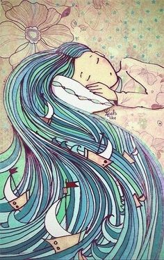 Image shared by Irina. Find images and videos about girl, art and drawings on We Heart It - the app to get lost in what you love. Illustration Art, Illustrations, Sea Art, Art Drawings Sketches, Whimsical Art, Art Plastique, Doodle Art, Painting Inspiration, Cute Art