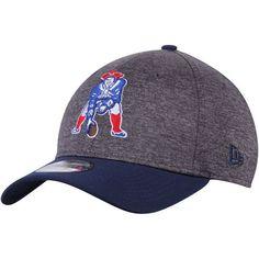 New England Patriots New Era Historic Logo Shadow Tech 39THIRTY Flex Hat - Heathered Gray/Navy - $29.99