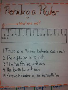 Teaching Tip: The Mystery of Reading a Ruler - measurement Math Strategies, Math Resources, Math Tips, Math Worksheets, Teaching Tips, Teaching Math, Teaching Reading, Math Tutor, Math Education