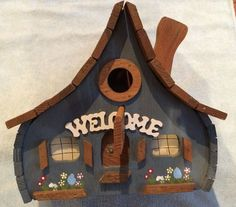 Yacolt Mountain Woodworks Enchanted Chalet Birdhouse ~handcrafted~indoor/outdoor