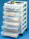Organized Scrapbooks & Supplies - This cart is great for storing your craft items. #organizing #scrapbooking #products