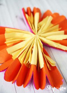 make tissue paper flower