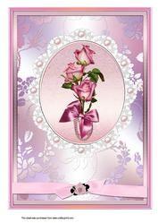 A4 Framed Rose Spray