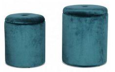 Pouf bleu canard : les plus beaux modèles Pouf Bleu, Deco Boheme, Salt And Pepper, Poufs, Square Ottoman, Round Ottoman, Blue Velvet, Blue Fabric, Foot Of Bed