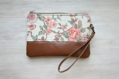 RESERVED Vintage look floral Clutch Purse Vegan by HelloVioleta, $28.00