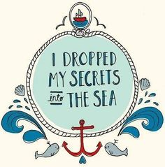 Sea quote via Carol's Country Sunshine on Facebook