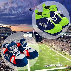 Who's going to win the big game this Sunday.. New England #Patriots or Seattle #Seahawks?  Comment below with your answer!  #Slippers #SuperBowl