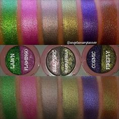 LIME CRIME SUPERFOIL ($18)  Last week @limecrimemakeup released 6 new foiled eyeshadow duos. They're $18 and come in a little compact with a mirror. The total weight is .17oz (each color is .085oz). So you're getting a good amount of product. Personally the little mirror isn't something that I'll use but it's a nice touch.  So the formula... when the wifey, @colourpopcult and I, were having our morning makeup roundup meeting she said that formula is similar to the JEFFREE STAR SKIN FROSTS…