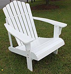 TruePower 7 Salt Painted Hardwood Adirondack Chair, White/Black