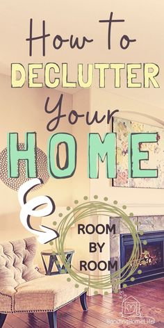When you don't know how to declutter your home and 'stuff' is out of control, it not only creates emotional distress, it also costs money and precious time! Declutter Your Home, Organizing Your Home, Organizing Tips, Declutter Bedroom, Organising, Getting Rid Of Clutter, Getting Organized, Cleaning Checklist, Cleaning Hacks