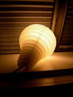 Designer Chris #Oliver created this lovely laser-cut flat pack Pear Light