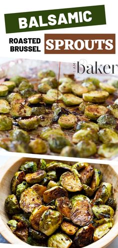A healthy and full of flavor side dish, this Balsamic Roasted Butter Sprouts will remind you of what you get in fancy restaurants! This easy recipe is perfect for dinners with the family and even potlucks for parties. You should try this today! Gourmet Dinner Recipes, Asian Dinner Recipes, Clean Eating Recipes For Dinner, Cooking Recipes, Pasta Recipes, Roasted Sprouts, Sprout Recipes, Vegetable Side Dishes, Side Dishes For Lasagna