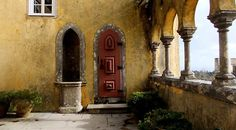 Enter  into a door to the past at the Pena Palace Sintra