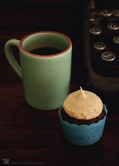 Chocolate Mud Cupcakes with Peanut Butter Icing