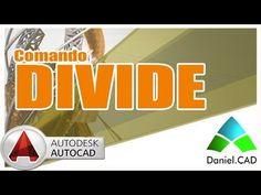 AutoCAD 2015 - Comando Divide (Divisão) - YouTube